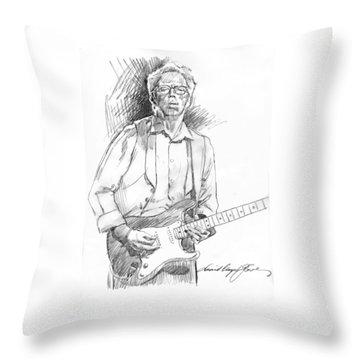 Clapton Riff Throw Pillow by David Lloyd Glover