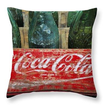 Classic Coke Throw Pillow by David Lee Thompson