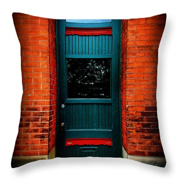 Classic Door Throw Pillow by Perry Webster