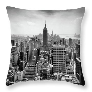 Classic New York  Throw Pillow by Az Jackson