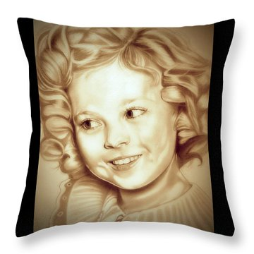 Classic Shirley Temple Throw Pillow by Fred Larucci