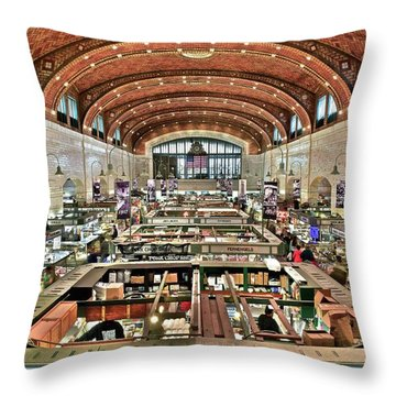 Classic Westside Market Throw Pillow by Frozen in Time Fine Art Photography