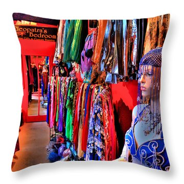 Cleopatras Bedroom Throw Pillow by Lawrence Christopher