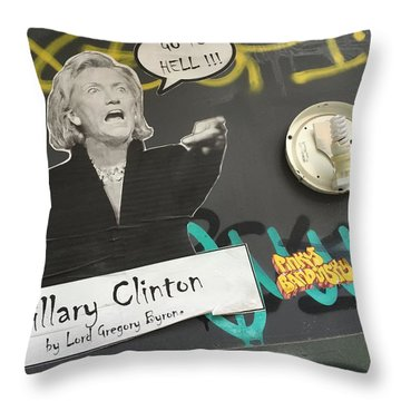 Clinton Message To Donald Trump Throw Pillow by Funkpix Photo Hunter