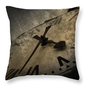 Clock Throw Pillow by Svetlana Sewell