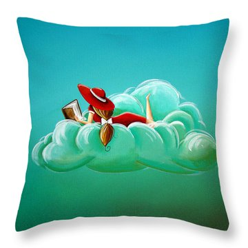 Cloud 9 Throw Pillow by Cindy Thornton