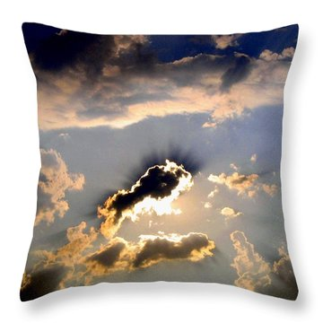 Cloud Nine 4 Throw Pillow by Will Borden