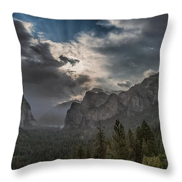 Clouds And Light Throw Pillow by Bill Roberts