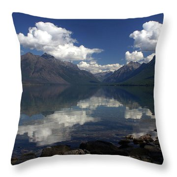Clouds On The Water Throw Pillow by Marty Koch