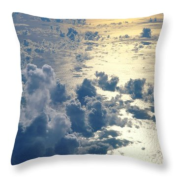 Clouds Over Ocean Throw Pillow by Ed Robinson - Printscapes