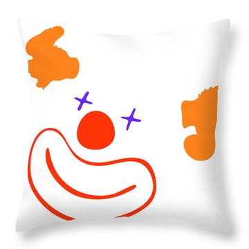 Clown Throw Pillow by Michal Boubin