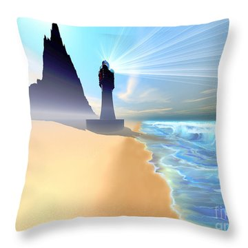 Coastline Throw Pillow by Corey Ford
