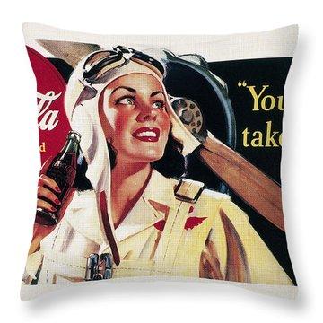 Coca-cola Ad, 1941 Throw Pillow by Granger