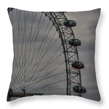 Coca Cola London Eye Throw Pillow by Martin Newman