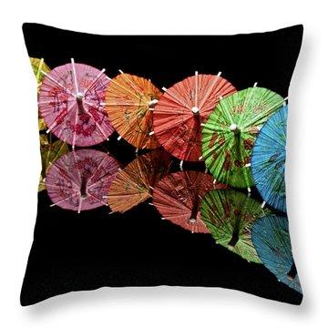 Cocktail Umbrellas IIi Throw Pillow by Tom Mc Nemar