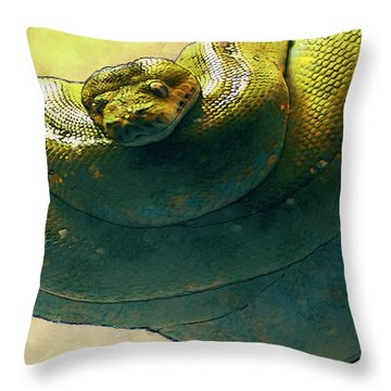 Coiled Throw Pillow by Jack Zulli