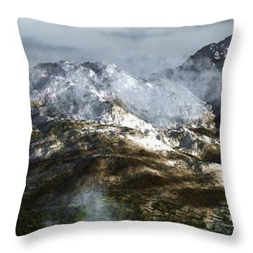 Cold Mountain Throw Pillow by Richard Rizzo