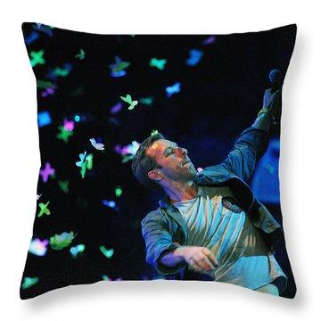 Coldplay1 Throw Pillow by Rafa Rivas