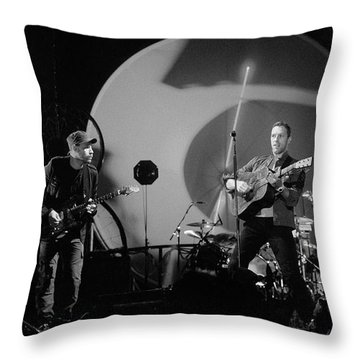 Coldplay12 Throw Pillow by Rafa Rivas
