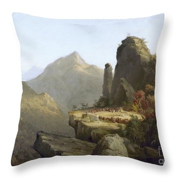 Cole: Last Of The Mohicans Throw Pillow by Granger
