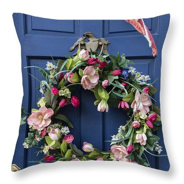 Colonial Door Throw Pillow by John Greim