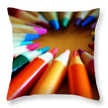 Color-ific Throw Pillow by Cricket Hackmann