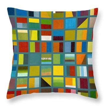 Color Study Collage 67 Throw Pillow by Michelle Calkins