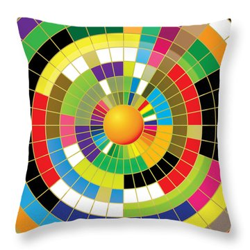 Color Wheel Throw Pillow by Gary Grayson