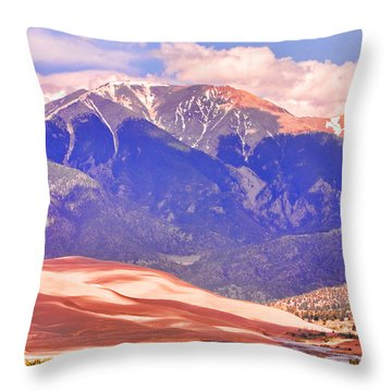 Colorado Great Sand Dunes National Park  Throw Pillow by James BO  Insogna