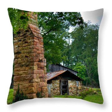 Colorful Chimney Throw Pillow by Douglas Barnett