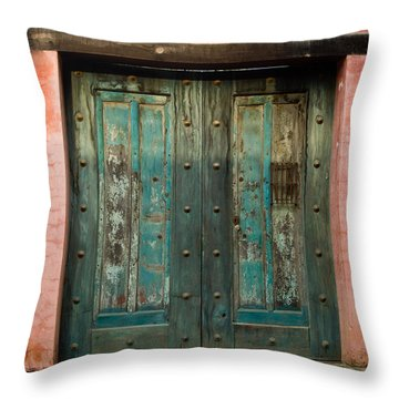 Colorful Doors Antigua Guatemala Throw Pillow by Douglas Barnett