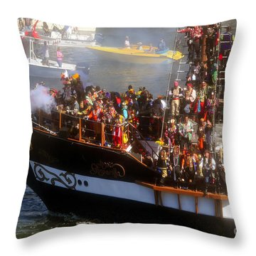 Colorful Pirates Throw Pillow by David Lee Thompson
