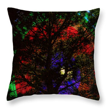 Colorful Tree Throw Pillow by James BO  Insogna