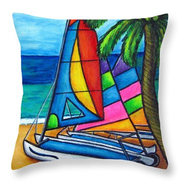 Colourful Hobby Throw Pillow by Lisa  Lorenz