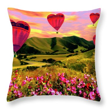 Come Fly With Me Throw Pillow by Kurt Van Wagner
