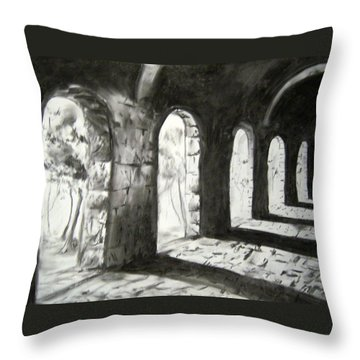 Coming Forward Throw Pillow by Alice Chen
