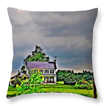 Coming Storm Throw Pillow by Bill Cannon