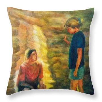 Communion Throw Pillow by Becky Chappell