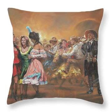 Comparing Notes Throw Pillow by Mia DeLode