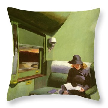 Compartment C Throw Pillow by Edward Hopper