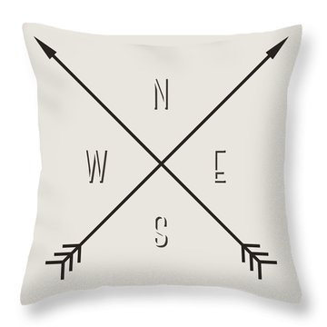 Compass Throw Pillow by Taylan Soyturk