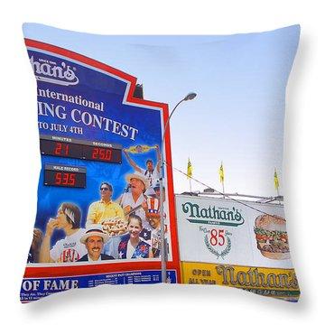 Coney Island Memories 10 Throw Pillow by Madeline Ellis