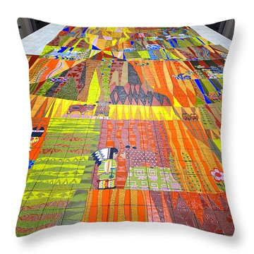 Contemporary Mosaic Throw Pillow by David Lee Thompson