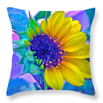 Content Throw Pillow by Gwyn Newcombe