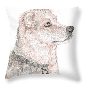 Cooper Throw Pillow by Lawrence Tripoli