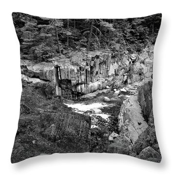 Coos Canyon 1553 Throw Pillow by Guy Whiteley