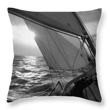 Coquette Sailing Throw Pillow by Dustin K Ryan