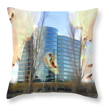 Corporate Cloning Throw Pillow by Kurt Van Wagner