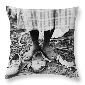 Cotton Picker, 1937 Throw Pillow by Granger