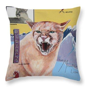 Cougar -visualisation Throw Pillow by John Keaton